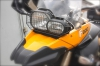 Защитна решетка для фары головного света на BMW F800GS, F700GS и F650GS.